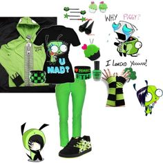 Green and Gir o.o by suzumemiki on Polyvore featuring DC Shoes, Sweet & Co., Goodie Two Sleeves, Please, BOBBY and Forever 21
