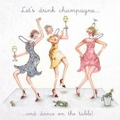 Cards Let & # s Drink Champagne Let & # s Drink Champagne Berni Parker Designs # . Birthday Card Sayings, Happy Birthday Wishes, Birthday Images, Birthday Quotes, Birthday Greetings, Bday Cards, Crazy Friends, Friend Friendship, Happy B Day