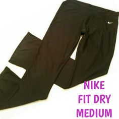 NIKE YOGA PANTS Sz medium  Fit Dry  Excellent condition  No fading or flaws Nike Pants Track Pants & Joggers