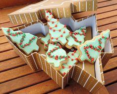 Juliart: #Galletas navideñas decoradas con #glasa / Juliart: #Christmas #cookies with #royal #icing