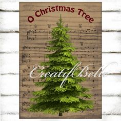Vintage Rustic Christmas Tree on Wood Background Song Sheet Large Instant Digital Download Printable Holiday Graphic Transfer Image Scrapbooking Decoupage Decoration Iron on fabric Cotton burlap linen Plaque Greeting card Primitive Christmas Folk art Holiday supplies Christmas paper Tea towel transfer Country style CreatifBelle 2.00 USD