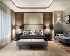 35 Trendy Bedroom Design Ideas That Look Awesome Mid Century Modern Bedroom, Modern Master Bedroom, Modern Bedroom Decor, Apartment Bedroom Decor, Stylish Bedroom, Master Bedroom Design, Minimalist Bedroom, Contemporary Bedroom, Bedroom Designs