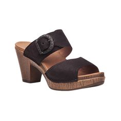 Women's Dansko Ramona Sandal ($120) ❤ liked on Polyvore featuring shoes, sandals, black, casual, heels, heeled sandals, high heel shoes, dansko sandals, black high heel shoes and adjustable strap sandals