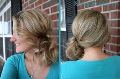 side updo for short hair