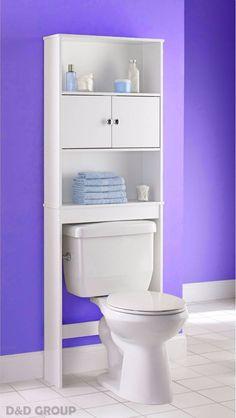 Bathroom Over The Toilet Shelf Storage E Saver Cabinet Organizer New White Mainstays