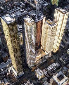 New apartment buildings in Melbourne Melbourne Cbd, Golden Temple, Skyscraper, Skyline, Australia, Explore, Temples, Buildings, Landscapes