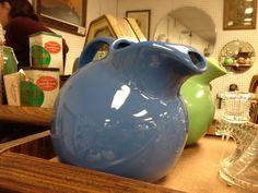 I collect vintage Hall China ball pitchers.