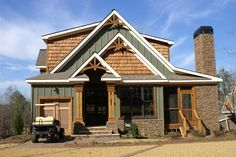 craftsman rustic lake home designed and built by Max Fulbright