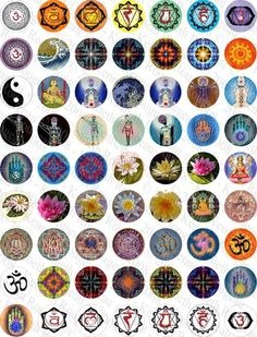 Etsy :: paperstreet :: Chakra Energy Symbols And Images-(No.1) Digital ...
