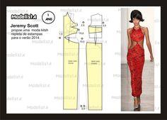 Modelagem do vestido de Jeremy Scott. Fonte: https://www.facebook.com/photo.php?fbid=567910683244841&set=a.426468314055746.87238.422942631074981&type=1&theater