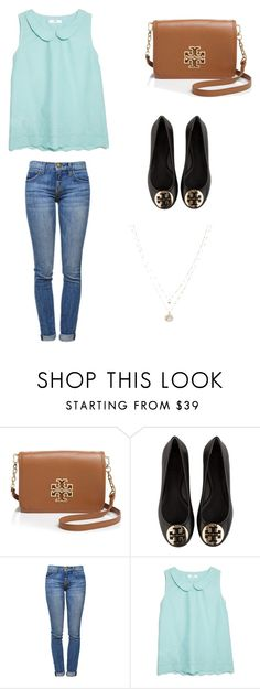 """""""Cute Spring outfit"""" by gracemeredith02 ❤ liked on Polyvore featuring Tory Burch, Current/Elliott, MANGO, LC Lauren Conrad, women's clothing, women, female, woman, misses and juniors"""