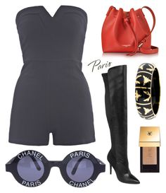 """""""I Love Paris in the Fall"""" by rachel-gaynor on Polyvore featuring Style Charles by Charles David, Lancaster, Angélique de Paris, Yves Saint Laurent, AX Paris, Chanel, paris and Fall2016"""