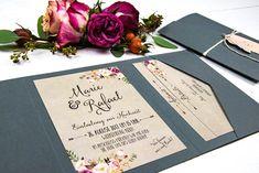 Wild Child Wedding Hochzeitspapeterie   Summer of Love Kraft   Vintage Pocketfold