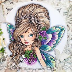 Charming Chic Cards: Always leave room in the garden for the Fairies to dance! Alcohol Markers, Digi Stamps, Fairy, Princess Zelda, Charmed, Dance, Chic, Colouring, Handmade Cards