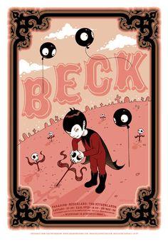 Concert Poster - BECK Artist: TARA MCPHERSON Concert poster / gig poster / music / show poster / illustration / screen print / graphic design