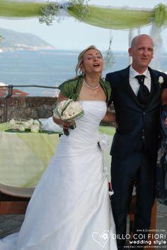 Gli sposi dopo il si al castello S.Giorgio di La Spezia