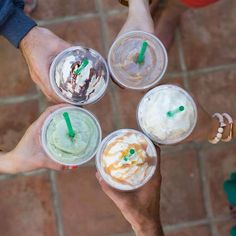 Getting Starbucks with friends