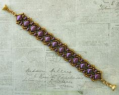 Bracelet of the Day: Vivian's Bracelet - Purple Velvet
