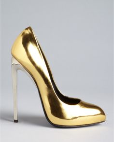 giuseppe zanotti feather heels - Frida High Heel in Gold (oro)