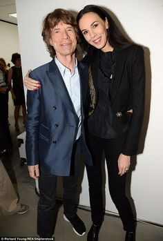 Couple: Sir Mick Jagger and L'Wren Scott photographed in London, a few months before her d...