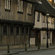 Alms houses next to Guild hall ,Stratford upon Avon where Shakespeare attended school.