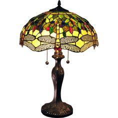 Warehouse of Tiffany Jadyn 16-inch Green Dragonfly Table Lamp