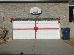 make your garage door a giant present at christmas time christmas holidays christmas crafts - Garage Christmas Decorations