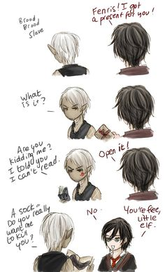 DAII - A present for Fenris by Pix-maylou on deviantART. I may have pinned this before but I will never not hit repin!