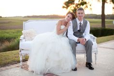 Everyone should have an outdoor couch at their wedding :-) | Stephanie Fay Photography via Style Me Pretty