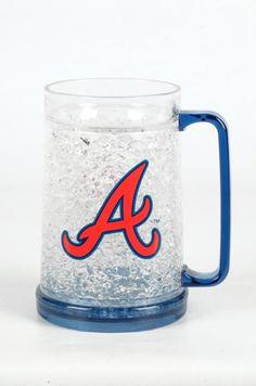 Atlanta Braves 16Oz Crystal Freezer Mug