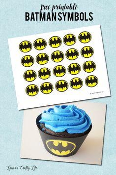 Free printable Batman Symbols to make cupcake liners