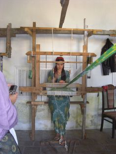 Ikat weaving in Uzbekistan...