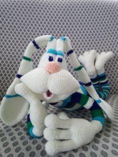 Crochet Animals, Crochet Hats, Sock Bunny, Amigurumi Doll, Softies, Puppets, Dinosaur Stuffed Animal, Plush, Dolls
