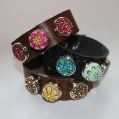 Just a small town girl Noosa style chunk snap charm for leather cuff bracelet