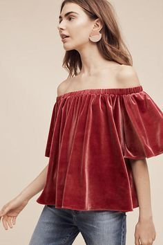 Off-the-shoulder red velvet top: http://www.stylemepretty.com/living/2016/11/04/budget-savvy-finds-for-this-seasons-hottest-fashion-trends/