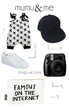 bold-monochrome black and white adidas  baby style