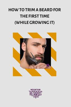 If this is your first beard, trimming is going to be completely foreign to you. But rest easy, for it's not nearly as complicated as it sounds.To make the trimming process go as smoothly as possible, here are some tips for how to trim a beard for the first time! #beard #beardtrimming Beard Trimming Guide, Beard Trimming Styles, Hair And Beard Styles, Trim Beard Neckline, New Beard Look, Short Beard, Great Beards, Beard Grooming, Beard Balm