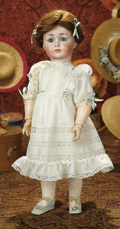 "The Memory of All That - Marquis Antique Doll Auction: 146 German Bisque Character ""Mein Liebling"", Model 117, by Kammer and Reinhardt"