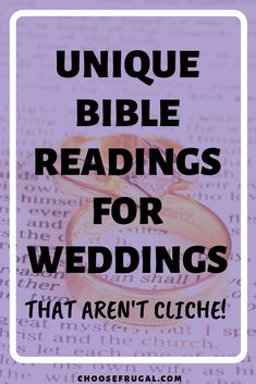 These Bible readings for weddings aren't the same old tired passages you've heard time and time again. Have a unique wedding ceremony by incorporating these Bible verses! ceremony ideas Best Bible Readings For Weddings That Aren't Cliché Wedding Bible Readings, Wedding Bible Verses, Bible Verses About Love, Wedding Readings Unique, Wedding Ceremony Script, Unity Ceremony, Tent Wedding, Church Wedding, Wedding Bells