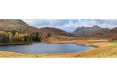 Blea Tarn in Autumn Panorama #photography #gift #canvas #landscape #nature