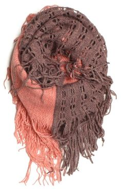 Amazon.com: Beautiful Fashion Elegant Two Tone Knitted Loop Infinity Scarf with Solid Side and Net Pattern Knitted Side: Clothing