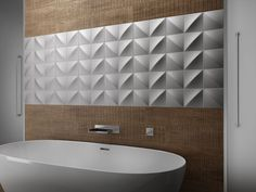 New Series UP. SLIDE is one of four 3D feature tiles available in a range of colours, including metallics. | classicceramics.com.au