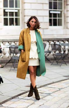 Two tone coat