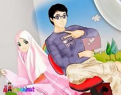 Hee Muslim Couples Islam Anime Cartoon Cartoons Manga Comics