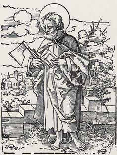 Beham, Hans Sebald: »Die Zwölf Apostel und Christus als Salvator mundi«, Hl. Matthias c.1530