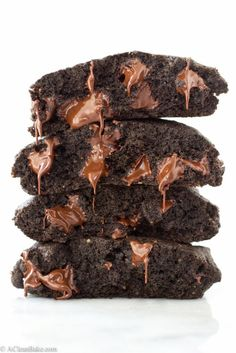 Gluten Free Double Chocolate Brownie Cookies (Made with Whole Grains!)