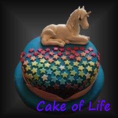 #eenhoorn #taart #sterren #regenboog #verjaardag #kinderfeest