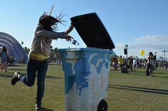 Artists from the Green Initiative: TRASHed Reinvent Sorting Waste by Decorating Recycling Bins and Waste Containers ! — Cereplast