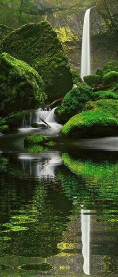Elowah Falls, Oregon by suzette