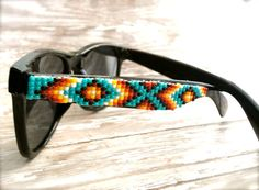 These are awesome - Black Frame Native American Beaded Sunglasses. Other colours available too!